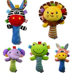 Cute Newborn Infant Baby Toys Bed Bell Developmental Toy Kids Baby Toy Animal Handbells Rattle Toy New
