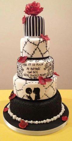Jack and Sally cake