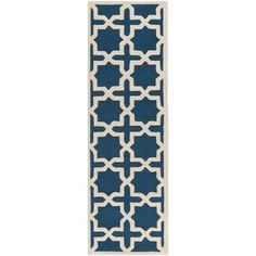 Safavieh Cambridge Navy Blue/Ivory 2 ft. 6 in. x 14 ft. Runner-CAM125G-214 - The Home Depot  Runners & matching rugs available