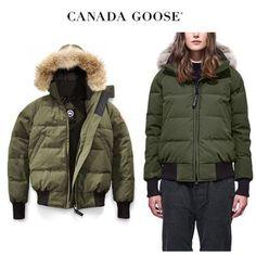 CANADA GOOSE ダウンジャケット・コート CANADA GOOSE Savona Bomber オシャレに着こなせるカーキ Canada Goose Women, Winter Jackets, Fashion, Winter Coats, Moda, Winter Vest Outfits, Fashion Styles, Fashion Illustrations