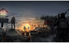 Photo wallpaper Idaho_Survivors, night, war, machine, soldiers