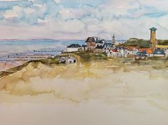 Domburg watercolor painting by Irma