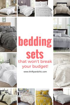 Great site for cute bedding sets that won't break your budget Cute Bedding, Cheap Bedding Sets, Home Bedroom, Bedroom Decor, Bedroom Ideas, Up House, Guest Bedrooms, Beautiful Bedrooms, Apartment Living