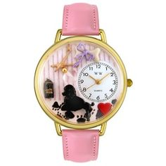 Dog Groomer Pink Leather And Goldtone Watch #G0630007 - http://www.artistic-watches.com/2012/12/01/dog-groomer-pink-leather-and-goldtone-watch-g0630007-2/