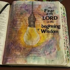"""The fear of the Lord is the beginning of wisdom."" Proverbs 9:10 / janngray // Instagram photos 