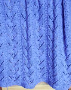 Baby Blanket Knitting Pattern PDF Blodwen by TheWoollyKnitter
