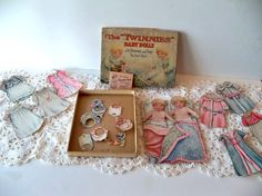 RESERVED FOR FIFI Twinnies Paper Baby Dolls with by MrsRekamepip