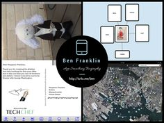 App-Smashed Benjamin Franklin Bottle Biography using Toontastic, Popplet, Google Earth, and Bill Atkinson PhotoCard apps: Complete Write-Up and Student Sample! http://www.techchef4u.com/history/app-smashed-benjamin-franklin-biography/