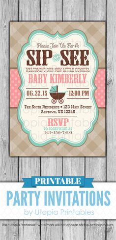 Items similar to Country Western Sip And See Invitation Little Cowgirl Baby Shower Party Pink Teal Cute Digital Printable Customized Brown Aqua Blue on Etsy Sip And See Invitations, Printable Baby Shower Invitations, Baby Shower Printables, Party Invitations, Invite, Little Cowgirl, Cowboy And Cowgirl, Baby Shower Parties, Baby Shower Themes