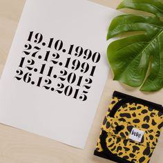 First Milestone | The Tribe family birth dates poster in white