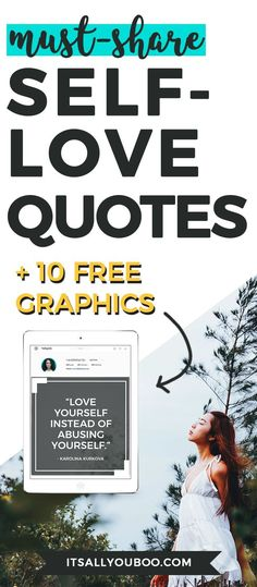 Share the self-love with these 10 free sharable quotes, beautifully designed and optimized for your Instagram, Twitter and Facebook.