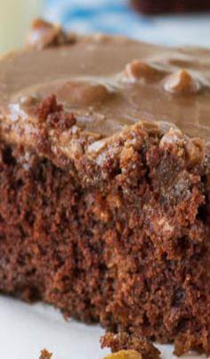 This looks sooooooooooooooo good! Chocolate Buttermilk Cake with Frosting