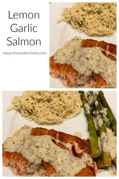 This Lemon Garlic Salmon is a delicious meal that comes together in no time and is packed with flavor! Packed with protein, this will be a hit with everyone!