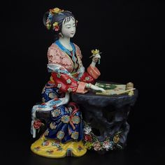 Find More Pottery & Enamel Information about Christmas Painted Porcelain Decoracion Chinese Style Statue Pure Art Collectible Manual Figurine Ceramic Character Ornament ,High Quality ceramic case,China ceramic snowman Suppliers, Cheap ceramic chocolate from Handicraftsman on Aliexpress.com