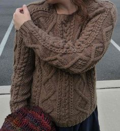 Cabled Sweater Free Knitting Pattern (can use Fishermans wool I have)