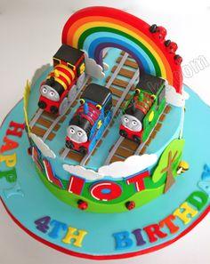 Celebrate with Cake!: Rainbow Thomas the Tank Engine Cake