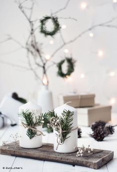 minimal scandinavian christmas decoration