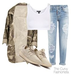 """""""Untitled #895"""" by thecurvyfashionistaa ❤ liked on Polyvore featuring Dsquared2 and Topshop"""