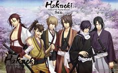 Hakuoki Shinsegumi Kitan: there are a lot of handsome characters :Q_____ I also watched the beginning of Hekketsuroku but I gave up bc I  didn't find it such interesting!