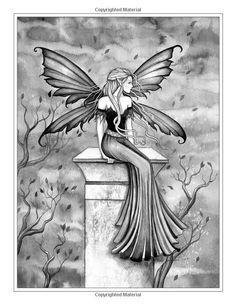 A World of Fairies - A Fantasy Grayscale Coloring Book for Adults: Flower Fairies, Detailed Coloring Pages, Fairy Coloring Pages, Adult Coloring Pages, Coloring Books, Fairy Drawings, Beautiful Fantasy Art, Fantasy Kunst, Alcohol Ink Art, Flower Fairies