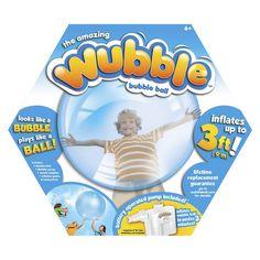 Wubble Bubble Ball with Pump- Blue