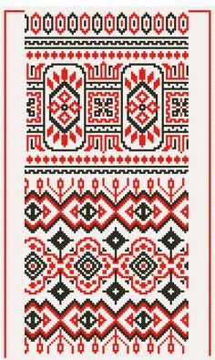 régi keresztszemes minta 207-208 kivarrt  ,broderies Hongroises , frises