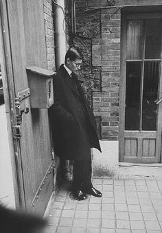 YSL after Christian Dior's funeral in Paris.