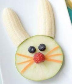 Receta para hacer Conejo Divertido con Frutas
