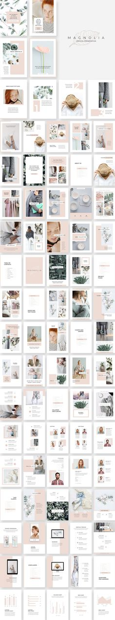 Magnolia Vertical PowerPoint by Studio Sumac on @creativemarket #vertical #presentation #template #powerpoint #feminine #ppt #slide #fashion