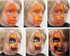 Face paint inspiration pumpkin