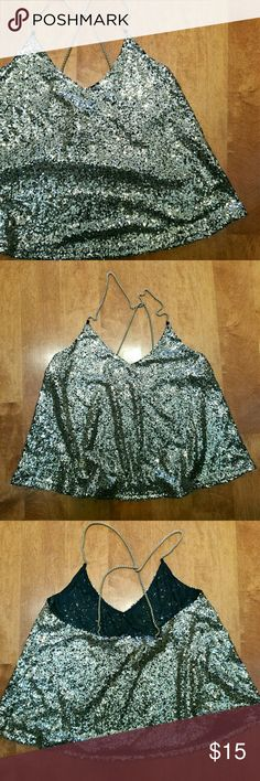 Gold Sequin Tank Brand new with tags. Would probably best fit a small. Personally feel like it runs a little small Casting LA Tops