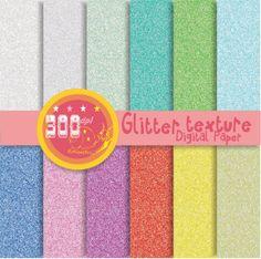 Glitter digital paper glitter backgrounds 'glitter by GemmedSnail, $4.80