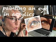 Painting a photorealist Eye in Acrylics Acrylics, Eyes, Videos, Youtube, Movie Posters, Painting, Instagram, Art, Art Background