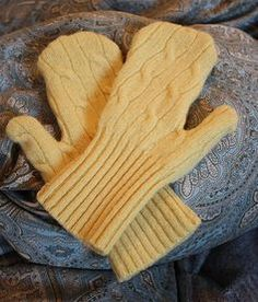 Recycle sweater sleeves into mittens