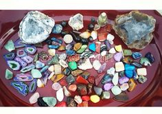 Cleansing stones in the light of the full moon