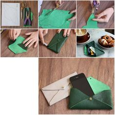 How to make Leather Envelope Case step by step DIY tutorial instructions, How to, how to make, step by step, picture tutorials, diy instructions, craft, do it yourself