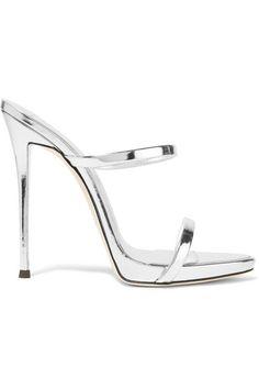 GIUSEPPE ZANOTTI Darsey Metallic Leather Sandals. #giuseppezanotti #shoes…