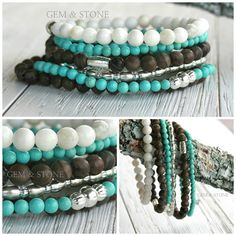 Boho Stacking Bracelet by GemAndStone on Etsy