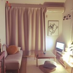 koriyamakorisさんの、部屋全体,観葉植物,無印良品,ナチュラル,IKEA,ソファ,一人暮らし,北欧,ニトリ,のお部屋写真