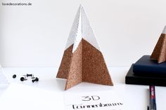 DIY 3D Tannenbaum Pinnwand | DIY 3D Christmas Tree Pinboard