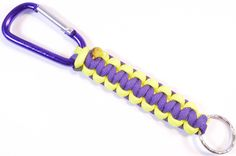 How to Make a Key Chain Lanyard from Paracord - Cobra Weave - BoredParacord Made it! Super easy and fun.