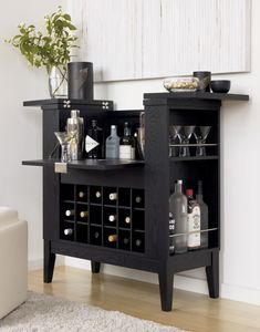 Parker Spirits Ebony Cabinet | Crate and Barrel