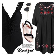 """Rosegal 47"" by fattie-zara ❤ liked on Polyvore"
