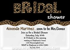 Bridal Shower Leopard Invitation Digital Printable by rockreations, $13.00