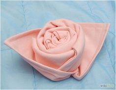 How to Make a Rose out of a Cloth Napkin