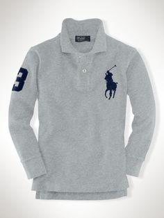 Custom-Fit Big Pony Polo - Boys 8-20 Polos - RalphLauren.com