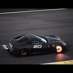 Ferrari 599xx braking at Maximum Power