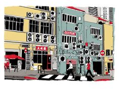 Cliff Mills is a conceptual rendering illustrator, expertized in Travel illustrations