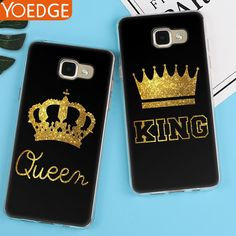 King Queen Case For Samsung Galaxy S5 S6 S7 Edge S8 Plus Back Cover