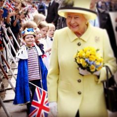 Little Konrad Thelen was clearly thrilled to meet the queen in Germany (and he definitely charmed her as well!). July 2015